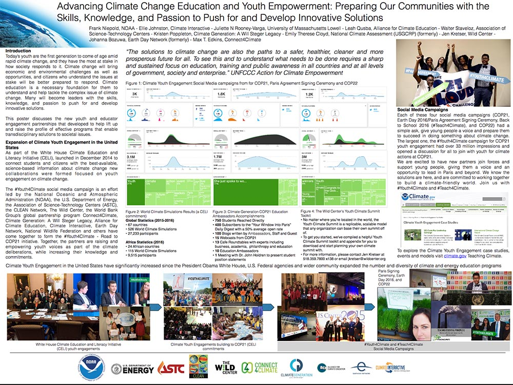 Advancing Climate Change Education and Youth Empowerment