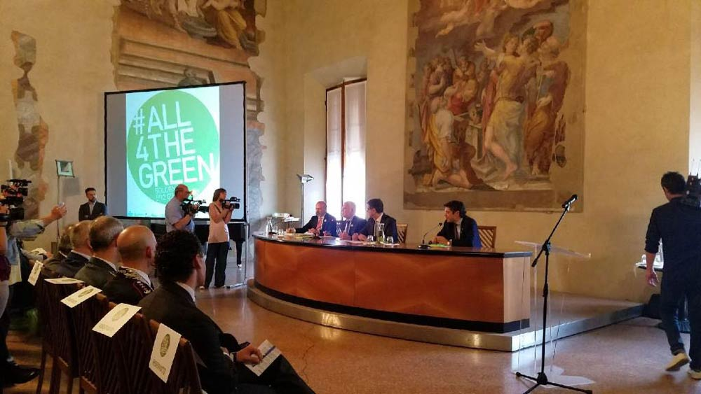 All4TheGreen presented this Wednesday, May 31st, 2017, in Bologna