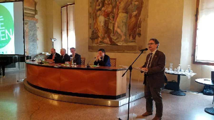 Gian Luca Farinelli, Director of Fondazione Cineteca di Bologna, presents the screenings that will take place in Piazza Maggiore and Cinema Lumiere during #All4TheGreen. Photo Credits: Giulia Camilla Braga/Connect4Climate