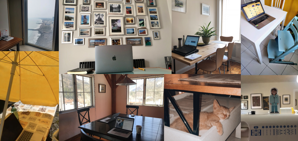 Various at-home C4C workstations