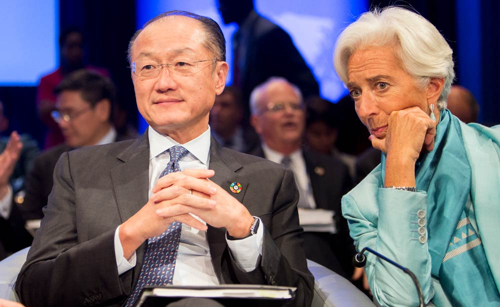 World Bank Group President Jim Yong Kim; IMF Managing Director Christine Lagarde. Photo: Simone D. McCourtie / World Bank