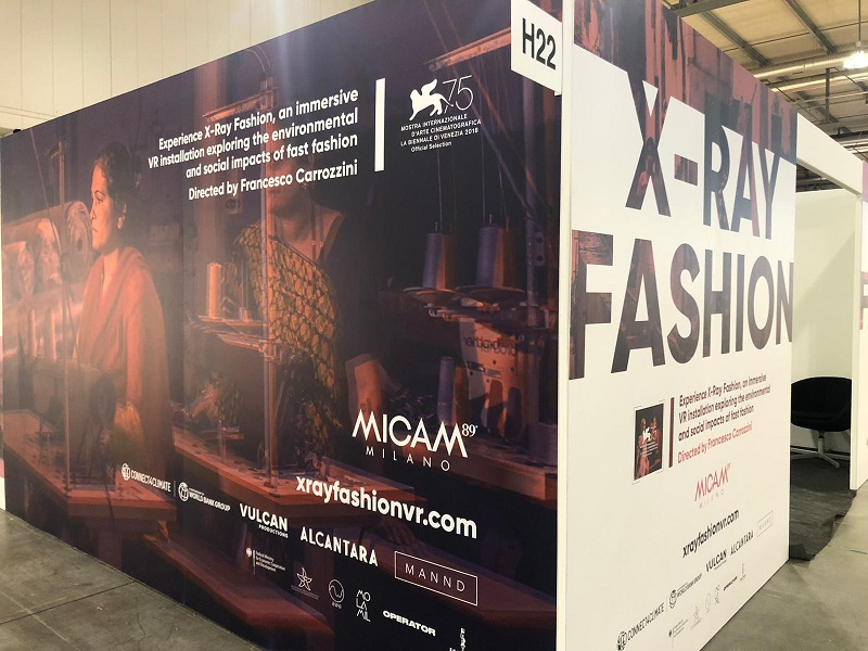The X-Ray Fashion VR installation spread a message of sustainability at MICAM Milano