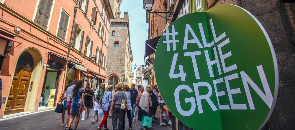 Bologna hosted #All4TheGreen, a week of about 100 activities in a collective effort to support the appeal for an economy that highlights efficiency saving and reusing resources. Photo Credit: Leigh Vogel / Connect4Climate