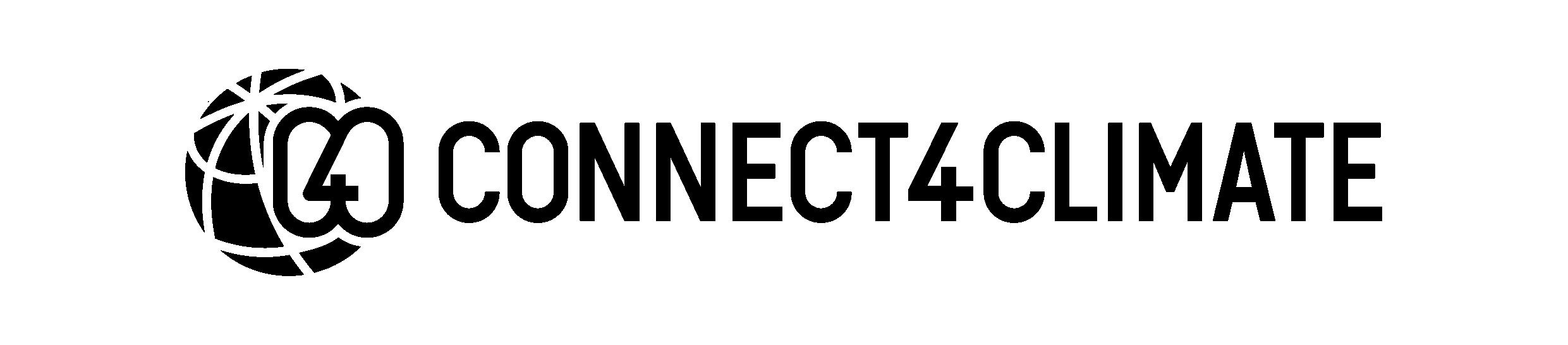 Connect4Climate Logo: Black Version