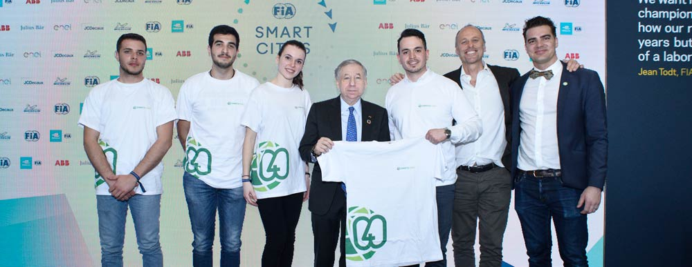 Jean Todt, FIA President, FIA Smart Cities, Rome, Connect4Climate, and students