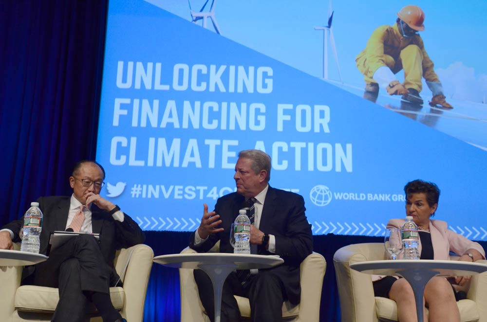Jim Yong Kim, Al Gore, and Christiana Figueres, Unlocking Financing for Climate Action, Spring Meetings 2017