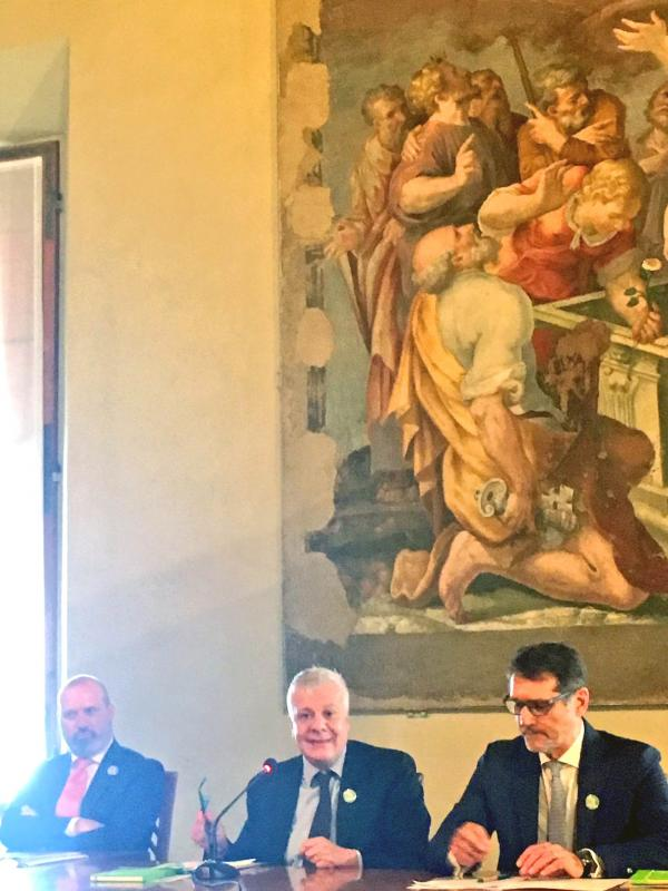 Minister Gian Luca Galletti presents #ALL4THEGREEN in Bologna, Italy.