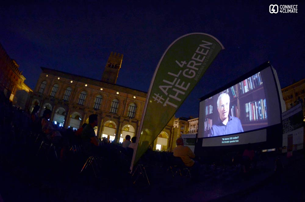 Racing Extinction, directed by Louie Psihoyos, screened at Piazza Maggiore.