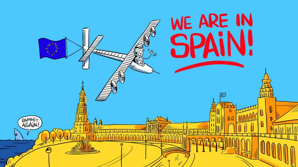 Solar Impulse has landed in Spain. Photo Credit: Solar Impulse