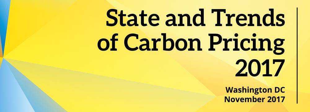 State and Trends of Carbon Pricing, November 2017, World-Bank Group