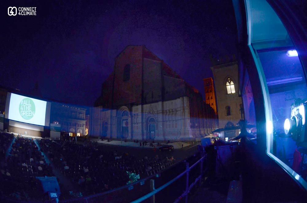 Piazza Maggiore: Biggest outdoor screen in Europe powered by sola energy by Building Energy