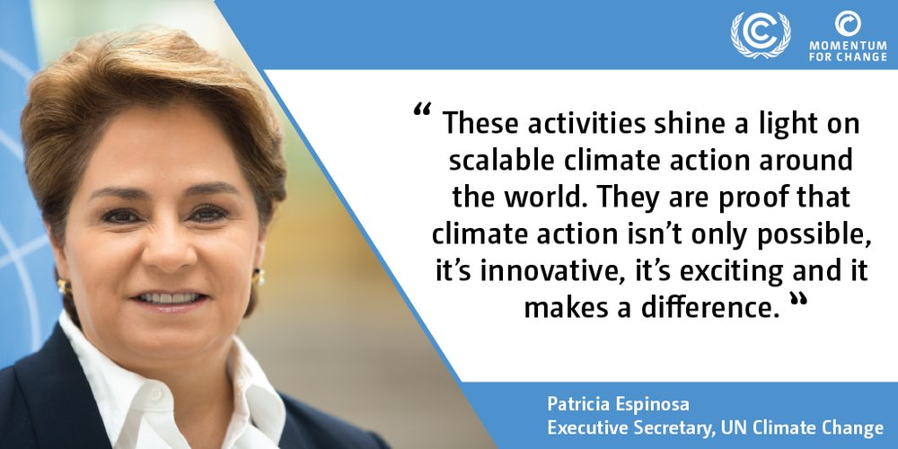 Patricia Espinosa, Executive Secretary of UN Climate Change, talks about the winners of 2018 UN Climate Action Award.