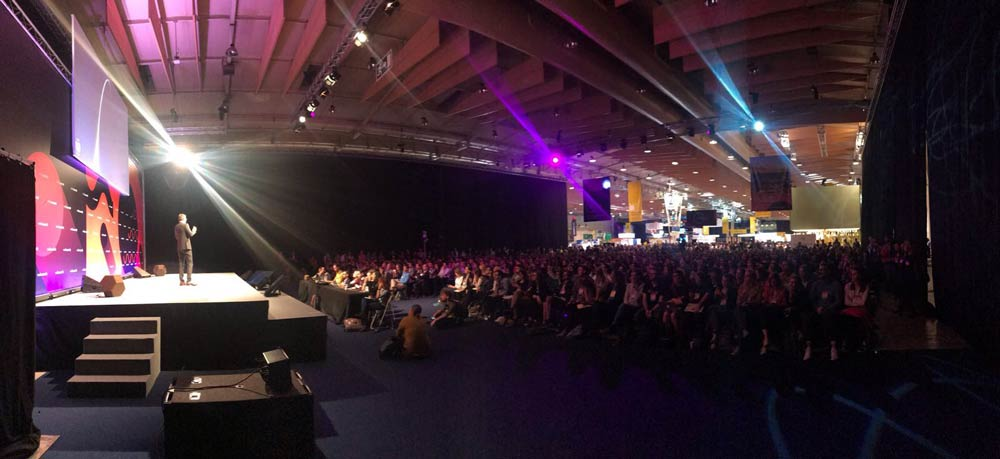 Planet:tech stage, Web Summit 2017, Lisbon, Portugal. Photo Credits: Max Edkins/Connect4Climate