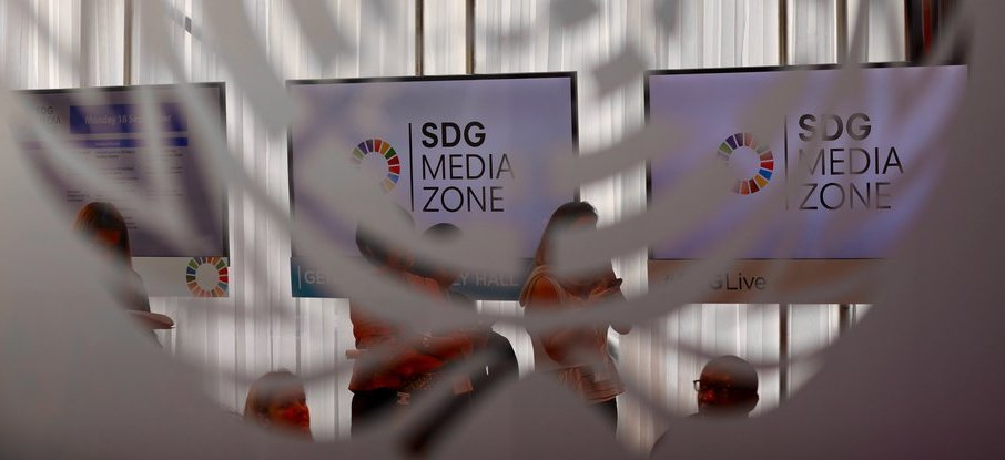 SDG Media Zone - UNGA 2018. Photo Credit: Kaia Rose / Connect4Climate