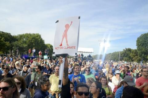 At Pope Francis' visit to Washington DC, Connect4Climate announced People's March for Earth