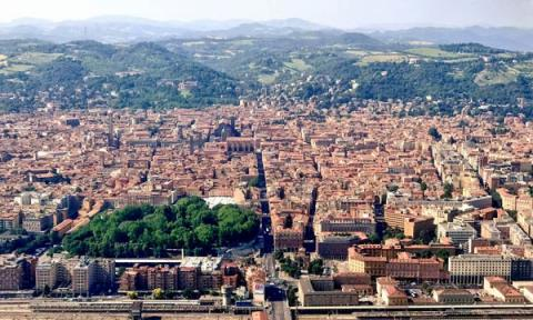 City of Bologna seen from the air