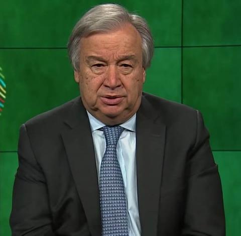 António Guterres (UN Secretary-General) on World Environment Day 2018