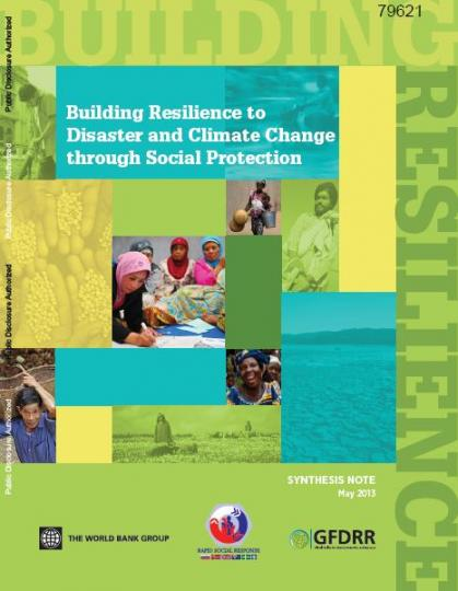 Building resilience to disaster and climate change through social protection