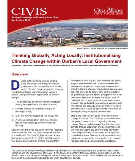 Thinking globally, acting locally