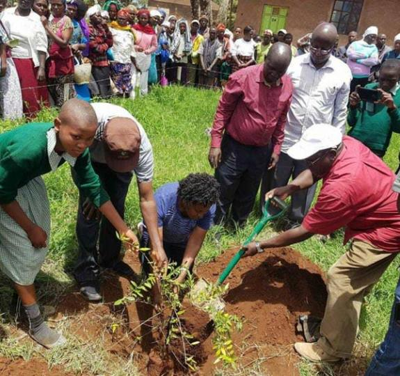 Kenya's President led a tree-planting event to spark the increase of forest cover