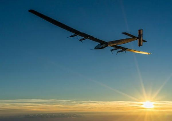 Solar Impulse, crossing the Atlantic in a completely emissions free aircraft
