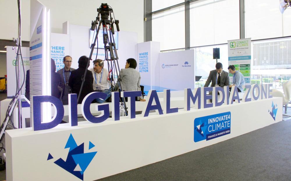 The Digital Media Zone at innovate4Climate in Barcelona.