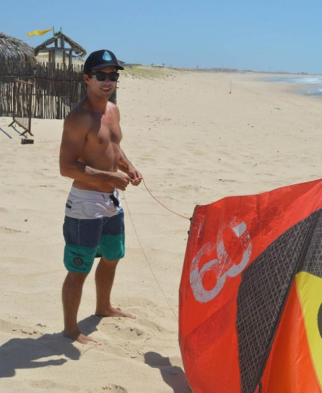 Guilly Brandão, Kitesurfer
