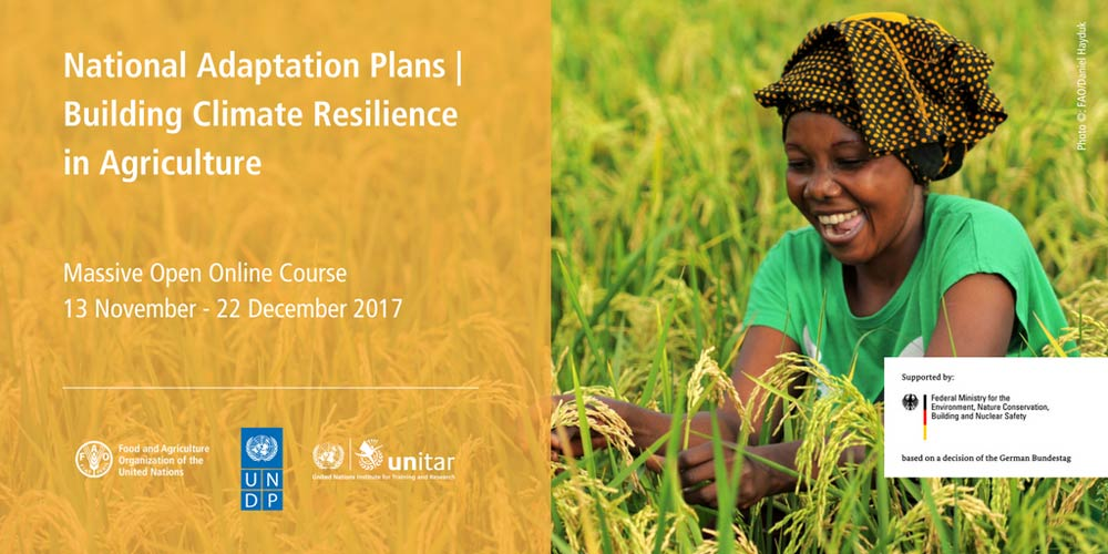 MOOC National Adaption Plans | Building Climate Resilience Agriculture
