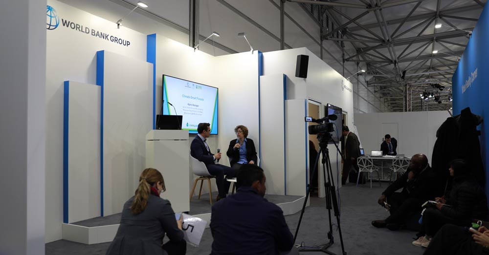 The World Bank Pavilion at COP23. Photo Credits: Kaia Rose/Connect4Climate